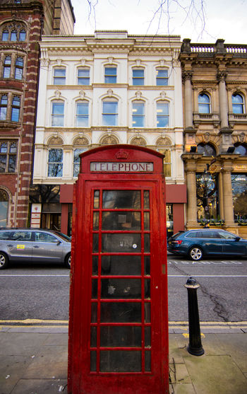 british classic telephone box Architecture Building Exterior Built Structure City Cultures No People Outdoors Pay Phone Red Street Telecommunications Equipment Telephone Booth Tourism Travel Destinations