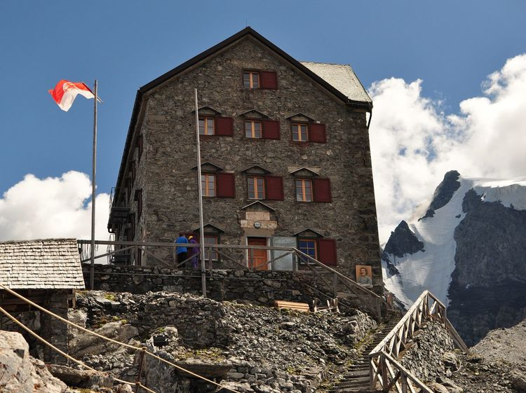 Payerhütte in Stilfserjoch National Park Alpine Landscape Alpine Hiking Alpine Südtirol Ortler Glacier Mountains EyeEm Selects Flag Sky Architecture