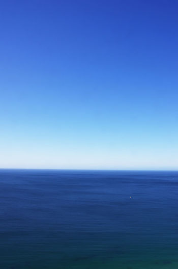 Sea and Blue Sky Background Beauty In Nature Blue Clear Sky Horizon Horizon Over Water Nature Outdoors Scenics - Nature Sea Seascape Sky Tranquil Scene Tranquility Water