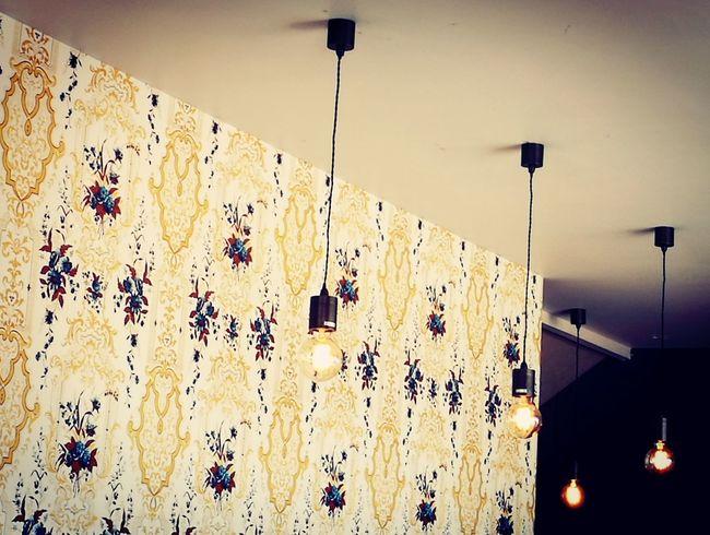 wallpaper and lights Wallpaper Filament Light Filament Bulb Yellow Pattern