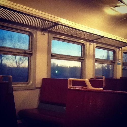 Домой... Train Evening