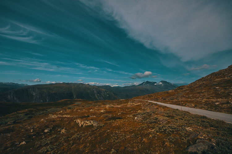 Mountains and clouds. Sognefjellet. Mountain Sky Cloud - Sky Landscape Environment Beauty In Nature Scenics - Nature Tranquil Scene Tranquility Nature Non-urban Scene No People Mountain Range Day Idyllic Remote Outdoors Land Travel Destinations Mountain Peak Sognefjellsvegen Norway Scandinavia Travel Adventure Activity Hiking