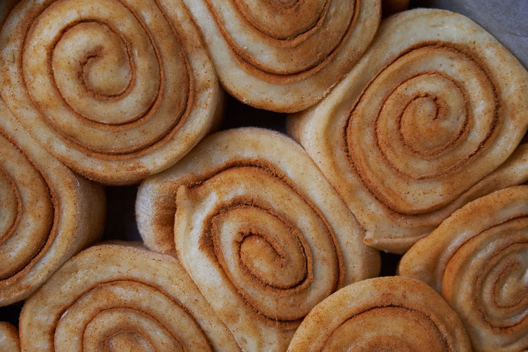 Backgrounds Baked Bakery Brown Cinnamon Cinnamonrolls Close-up Day Dessert Dough Food Food And Drink Freshness Full Frame Indoors  No People Pattern Preparation  Sweet Food