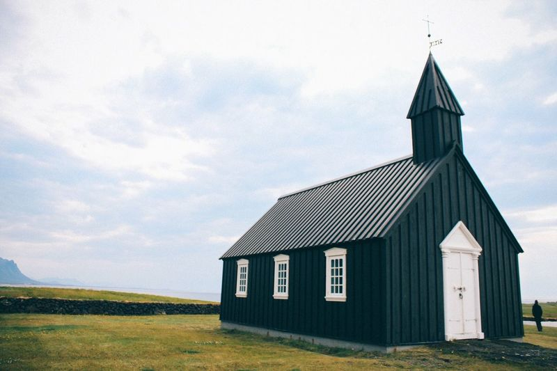 Lonely cult. Black Church Iceland Iceland_collection Cult