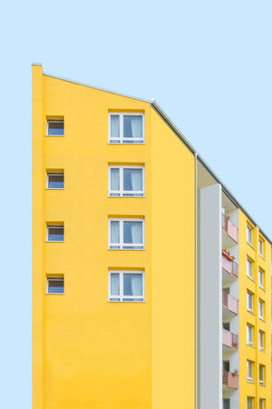 Apartment Architecture Building Exterior Built Structure City Clear Sky Day House Housing Development No People Outdoors Residential Building Sky Window Yellow