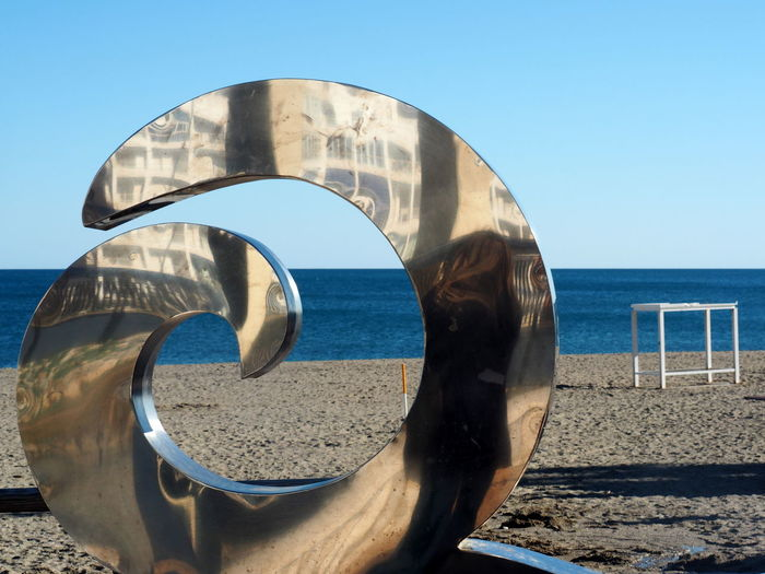 Sky Water Sea Nature Land Beach Clear Sky Day Sunlight Horizon Over Water No People Architecture Built Structure Horizon Blue Metal Scenics - Nature Sand Outdoors FUENGIROLA  SPAIN Andalusien