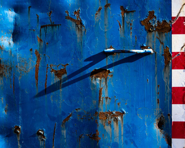 Colors Ugly Architecture Backgrounds Bad Condition Blue Close-up Color Damaged Day Door Full Frame Metal Metallic Minimal No People Outdoors Rusty Textured  Weathered