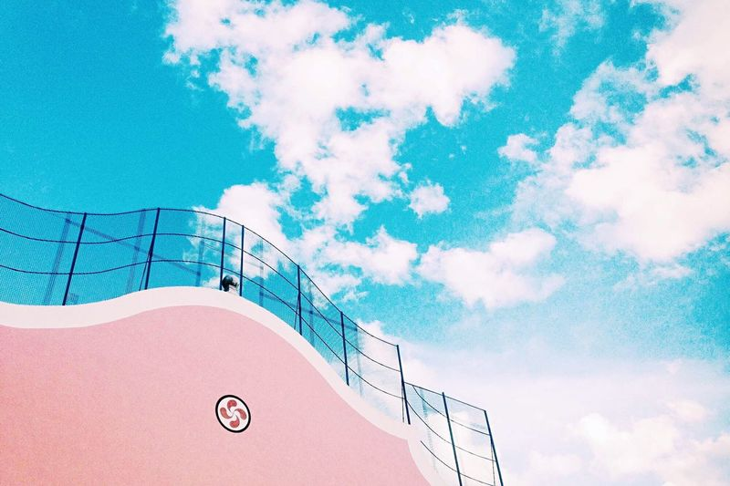 Minimalist Architecture Basque Country pink Pink Color Sky Cloud - Sky