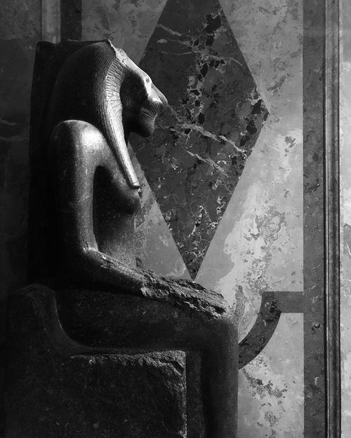 Egyptian Art Egyptian Sculpture Blackandwhite Photography Ancient Civilization Grace Strenght Vienna Museum