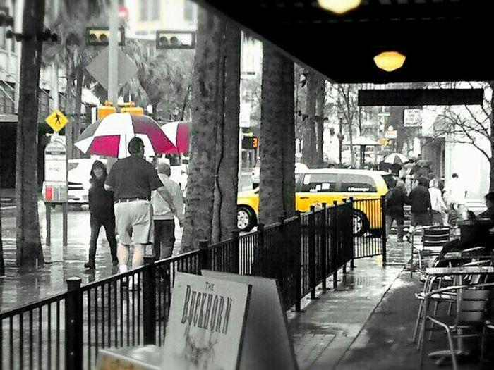 """Watching thr rain Fall"" _ Buckhorn Saloon &Museum Taking Photos Blackandwhite People Watching As The Rain Falls"