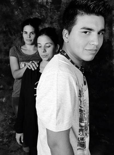 Grupal Portrait Looking At Camera Young Women Real People Lifestyles EyeEm Best Shots Studio Shot Blackandwhite Black & White