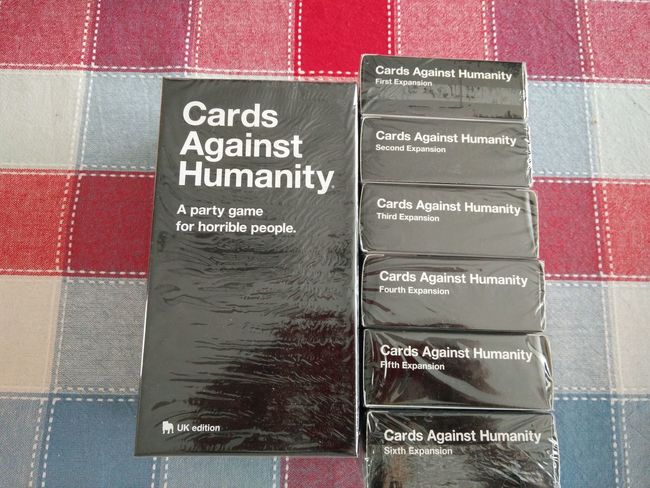 We finally gave in and got Cardsagainsthumanity Uk Edition.