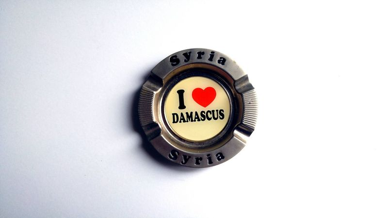 Before the war Syria  Damascus  Souvenir Syrian Ashtray  Memories Middle East Travels Foreigner Christian Muslims Lieblingsteil Stop The War Spread The Love War Torn Love I Love Damascus Genocide Give Peace A Chance Come Together