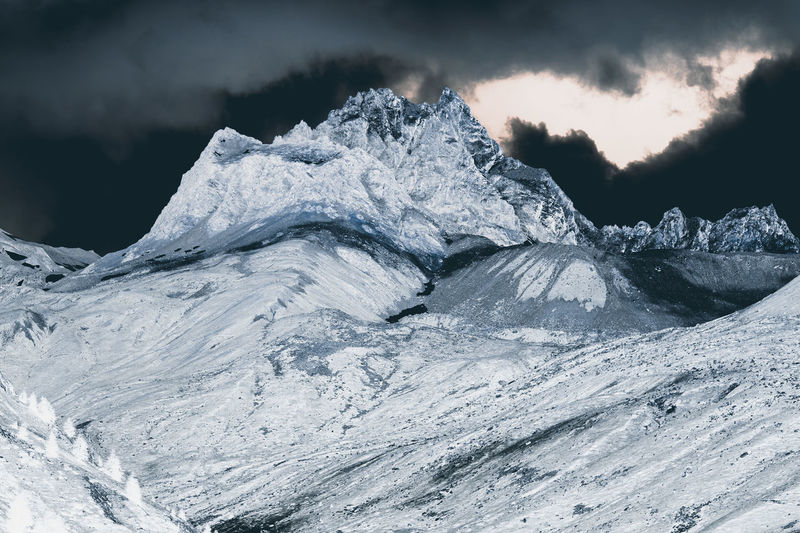 A view of fantastic colorized mountains in the Switzerland Snow Cold Temperature Winter Beauty In Nature Sky Environment Landscape Nature Scenics - Nature Mountain Cloud - Sky Ice Glacier No People Frozen Outdoors Snowcapped Mountain Day Rock Mountain Peak Formation Abstract Spectrum