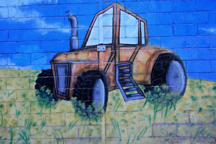 tag Tag Graff Tracteur Mur Wall