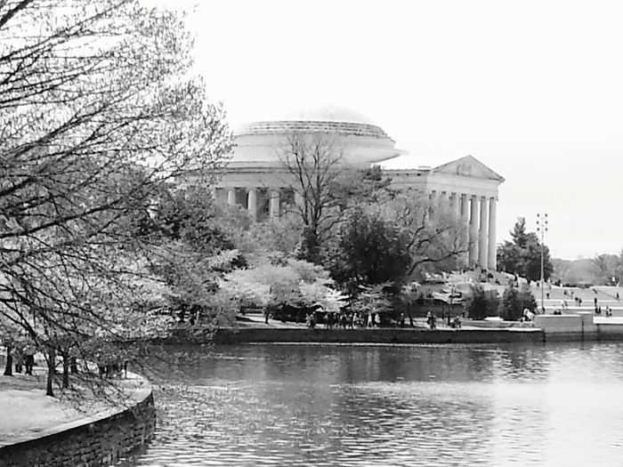 Blackandwhite Black And White Blackandwhite Photography Monument Tree Water Politics And Government Clear Sky Lake Sky Architecture Building Exterior Built Structure Pedal Boat Rippled Waterfront Calm