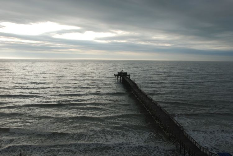 Beauty In Nature Cherry Grove Pier Cloud - Sky Day Gray Horizon Over Water Myrtle Beach SC Nature No People Outdoors Scenics Sea Sky Stormy Skies Tranquil Scene Tranquility Travel Destinations Water