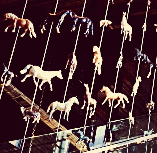 Restaurant Arquitecture Horses Wall