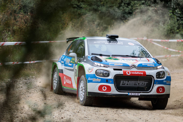 Romania Rally Champion: Simone Tempestini, 2018 Rally Iasi Romania Citroen C3 R5 Rally Car Rally Romania Sports Race Sports Track Motion Competition Car Speed