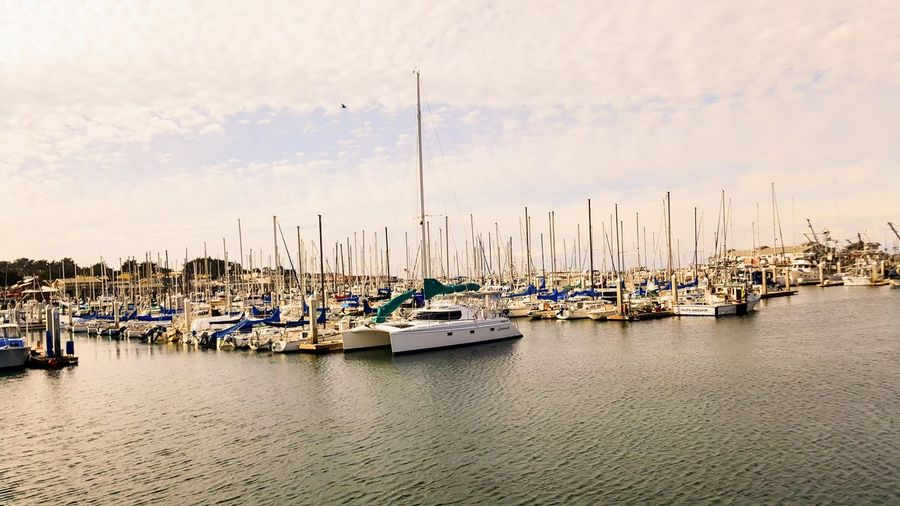 View of boats at harbor