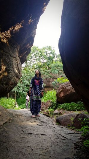 #steppingwithnature Feeling Feeling Thankful Feeling Inspired Feelslikehome Home Special👌shot EyeEm Best Shots EyeEm Nature Lover EyeEmNewHere EyeMe Best Shot - Landscape EyeEm Best Shots - Nature Nature_collection Nature Photography Nature Rock - Object Rock Rock Formation Rockcaves Caves Bheem Baithika Rock Caves Mysister Lone Solitude And Silence Solitude Adult Lifestyles Women Casual Clothing Rock - Object