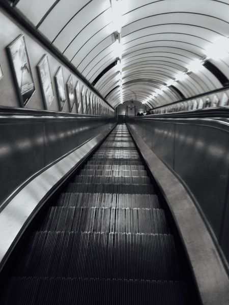 Cityscapes Architecture_bw Architecture Architecture_collection Underground Subway Metro LONDON❤ Blackandwhite Black And White