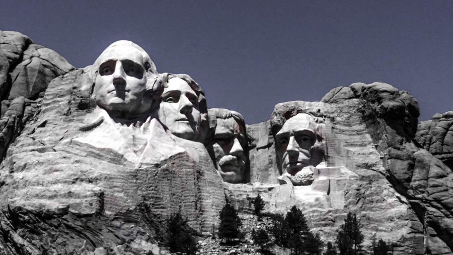 Check This Out Presidents National Memorial Sculptures Sculpture This Week On Eyeem Blue Sky Best Shot South Dakota Keystone SD Mountain View Rock Face Granite Rock Carvings Rock Thomas Jefferson Theodore ROOSEVELT Abraham Lincoln George Washington Monument Mt. Rushmore