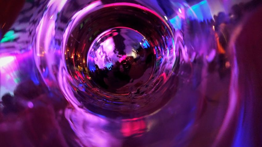 Illuminated Bottle Glass Cup Mug Abstract Photography Photography Latvia Riga Experimental Photography New Year Photooftheday Multi Colored Illuminated Nightlife Reflection Disco Ball Nightclub Indoors  Arts Culture And Entertainment Party - Social Event Disco Dancing People Close-up Disco Lights Day