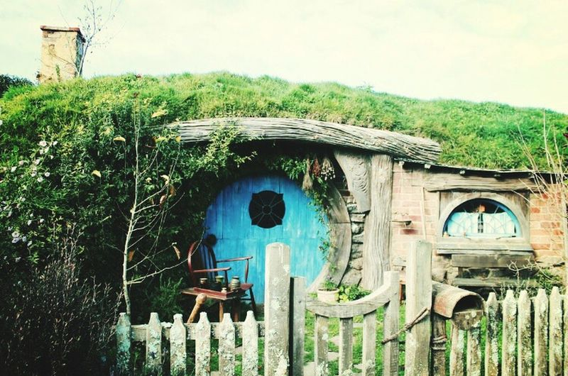 A Hobbit home. Home Blue Hobbit House Tiny House  Adorable Crafty Imagination Love Lord Of The Rings The Shire Tour New Zealand Australia Autumn Travel Photography Travel Cottage Home Sweet Home Building Exterior Lush Foliage Green Color Moviescene Remote Character Famous Place