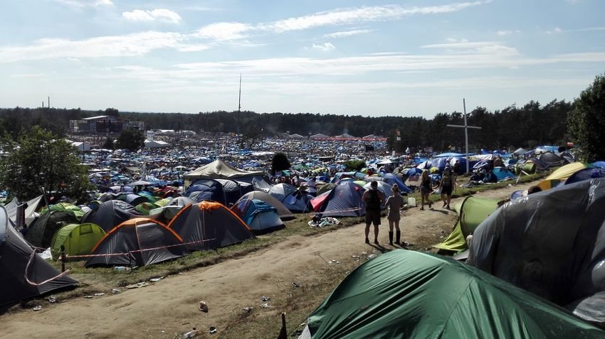 Very much tents at the woodstock festival in poland 2016 (this was only a small part of the festival area) Large Group Of People Crowd Summer Sky Outdoors Vacations People Day EyeEmNewHere Woodstock Woodstock 2016