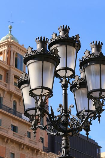 Street Lamp Street Lamp Collection Roofs Of Barcelona Architectural Detail Urban Geometry Urban Photography Urban Architecture Shapes , Lines , Forms & Composition Architecture And Art Architecture Sculpture Clear Sky Sky Blue Art Nouveau Style Art Nouveau The City Light City Light 3XSPUnity