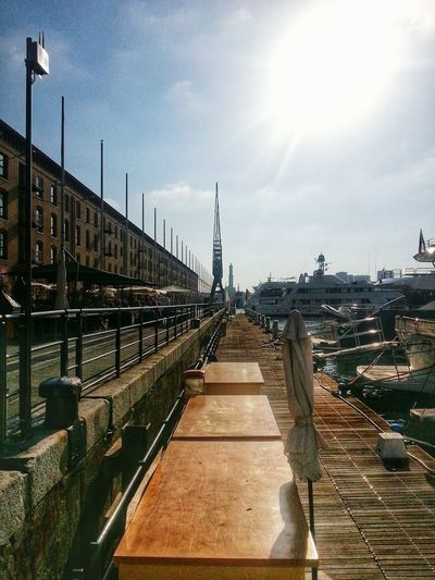 Sky Bridge - Man Made Structure Outdoors Travel Destinations Built Structure Architecture Day No People Building Exterior City Harbour Crane Lanterna Di Genova Lighthouse Smartphone Photography Note 2 Android Genova