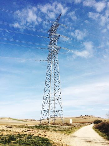 Electricity  Cable Fuel And Power Generation Power Supply Electricity Pylon Field Technology Power Line  Sky No People Connection Electricity Tower Landscape Cloud - Sky Outdoors Day Nature