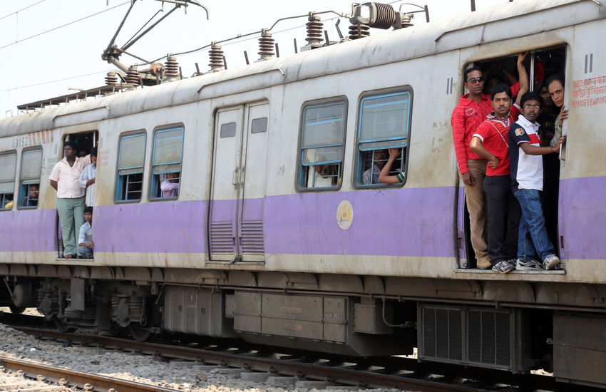 Indian train ASIA Calcutta Carriage Ride Crowd India Kolkata Men Mode Of Transport Passenger People Precarious Public Transportation Rail Railway Safety Station Train Train Transportation Travel West Bengal