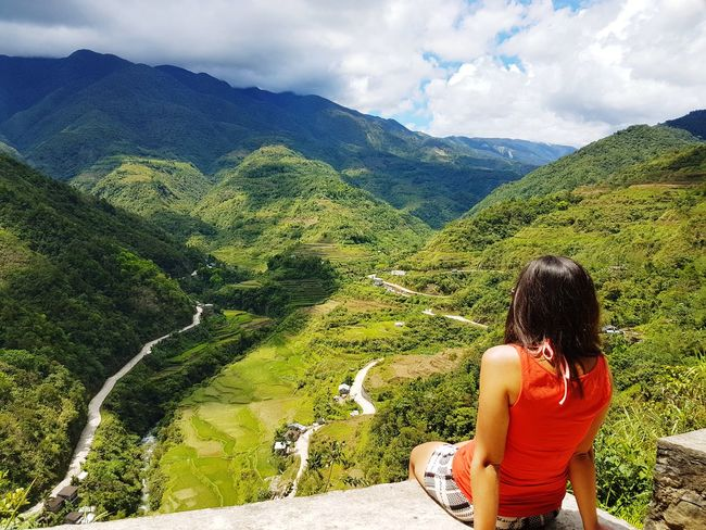 Its time to explore the Rice you know the terace is handmade? 😄 Philippines Nature Tree Mountain Women Agriculture Terraced Field Tea Crop Sky Landscape Cloud - Sky Plant Rice Paddy Hiker Crop  Mountain Range Farm The Traveler - 2018 EyeEm Awards The Great Outdoors - 2018 EyeEm Awards