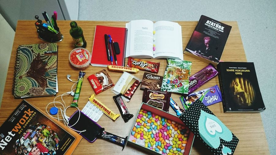 Chocolate Books ♥ Finalexam On The Table Studying University Enjoying Myself