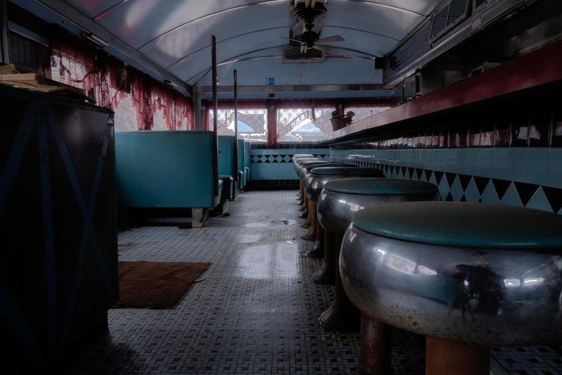 Interior of empty diner