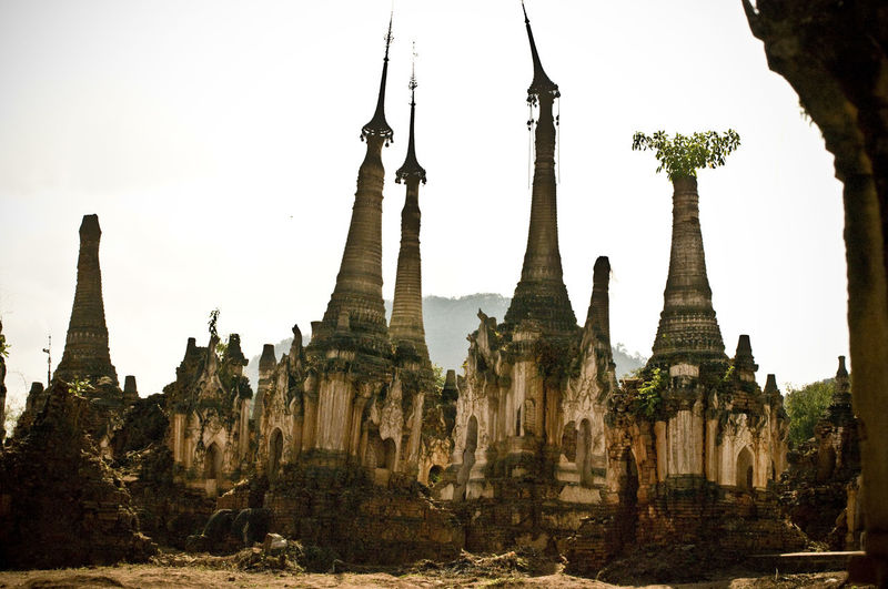 inn dean (the forest of stupas), inle lake Ancient Ancient Civilization Architecture Buddhism Building Exterior Built Structure Burma Day History Inle Lake Myanmar Nature No People Outdoors Place Of Worship Religion Sky Spirituality Stupa Temple Travel Travel Destinations Tree
