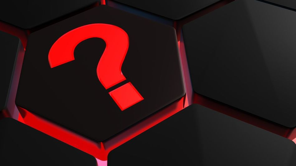 Red backlit question mark on black hexagon - 3D rendering 3D Icon Red Sign Asking Computer Concept Help Hexagon Illustration Information Question Question Mark Rendering Symbol Technological Technology