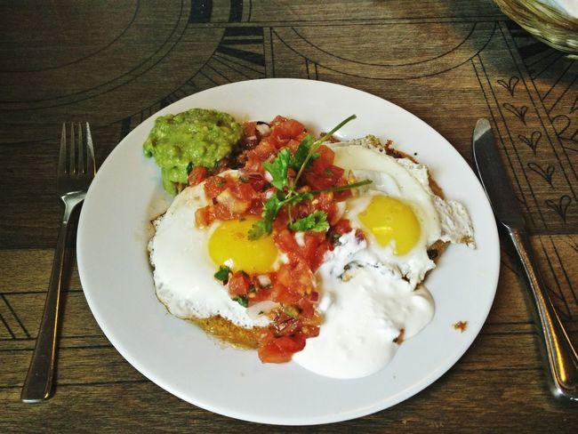 Breakfast Huevos Rancheros Hipster Frühstück Hipster Breakfast