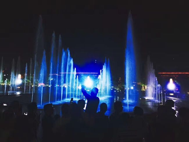 Musical fountain Illuminated Large Group Of People Arts Culture And Entertainment Night Music Festival Performance Nightlife Real People Music Stage - Performance Space Popular Music Concert Stage Light Enjoyment Leisure Activity Lifestyles Crowd Men Fun Audience Youth Culture