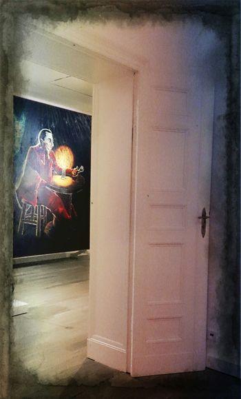 Bild mit Geduld by Joerg Immendorf Art Exhibition Door_series Come In & Find Out