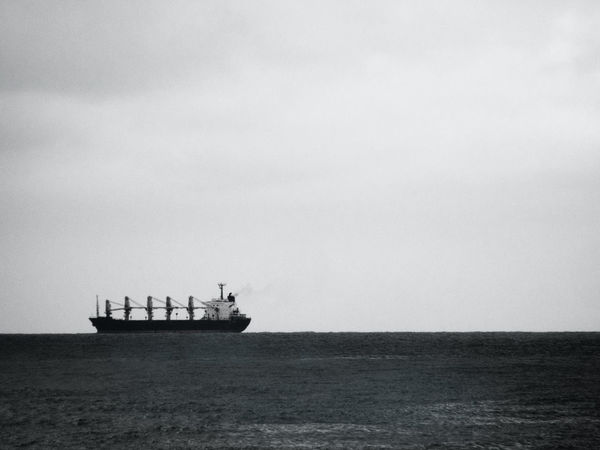 Ship over Black And White Departure Goodbye Horizon Over Water Long Trip Merchant Ship Mode Of Transport Nature Nautical Vessel No People Oblivion Outdoors Over Scenics Sea Ship Sky Sky And Sea Sky Sea Ship Transportation Water