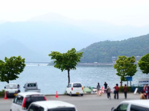 Kawaguchiko Lake Tree Mountain Beach Water Nature Cloud - Sky Car Day Outdoors Large Group Of People People Sky Adult