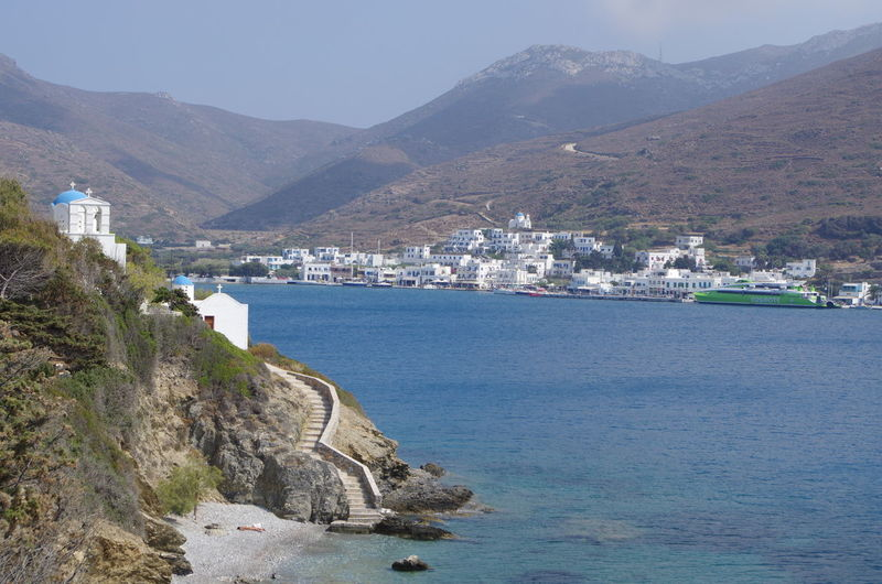 GREECE ♥♥ Griechenland Griechische Inseln Amorgos Amorgosisland Architecture Beauty In Nature Building Exterior Built Structure Clear Sky Day Greece Mountain Mountain Range Nature No People Outdoors Scenics Sea Sky Tranquility Transportation Water