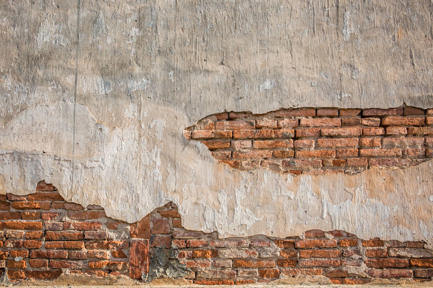 Wall background with brick. Architecture Retro Wall Aged Architecture Backdrop Backgrounds Built Structure Concrete Day Level Material Nature No People Old Pattern Outdoors Rough Stone Stone Material Structure Surface Vintage Wallpaper