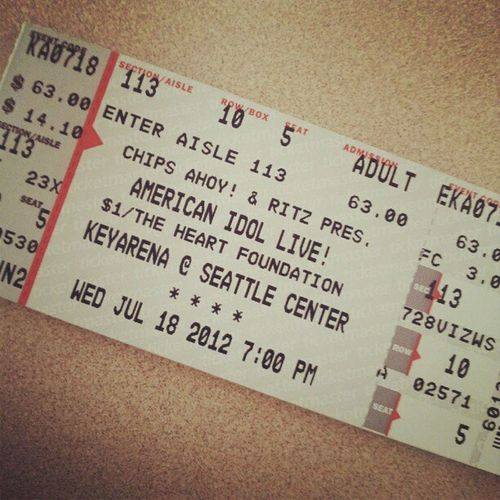 American idol tour tickets just arrived!! Tour AmericanIdol Ticketmaster Keyarena yeahh