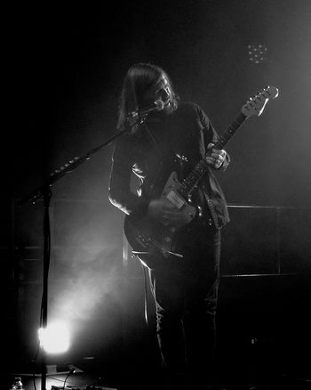 Band of Skulls, SWX club Bristol Music Rock Music Singing Rock Band Concert Black & White Performance Electric Guitar Microphone One Person