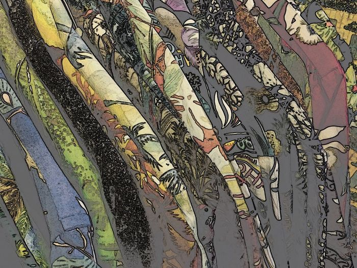 Hawaiian Shirt Hawaiian Style Vintage Style Backgrounds Close-up Clothing Full Frame Muted Colors No People Pattern Vintage Vintage Clothing