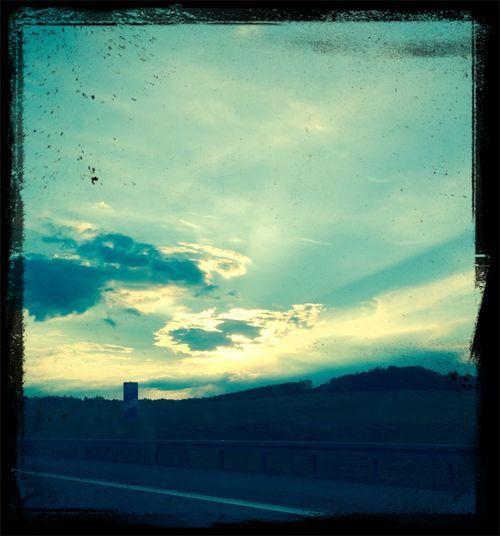 Autobahnromantik Traveling on the road